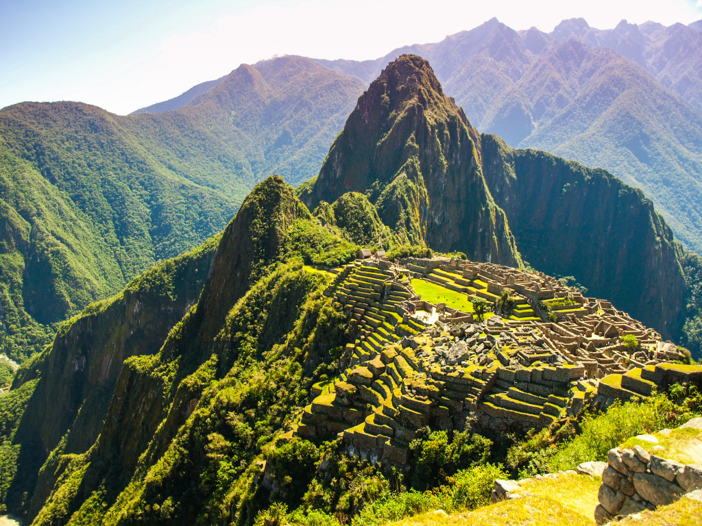 Beautiful view of Machu Picchu ruins on sunny day (Peru)