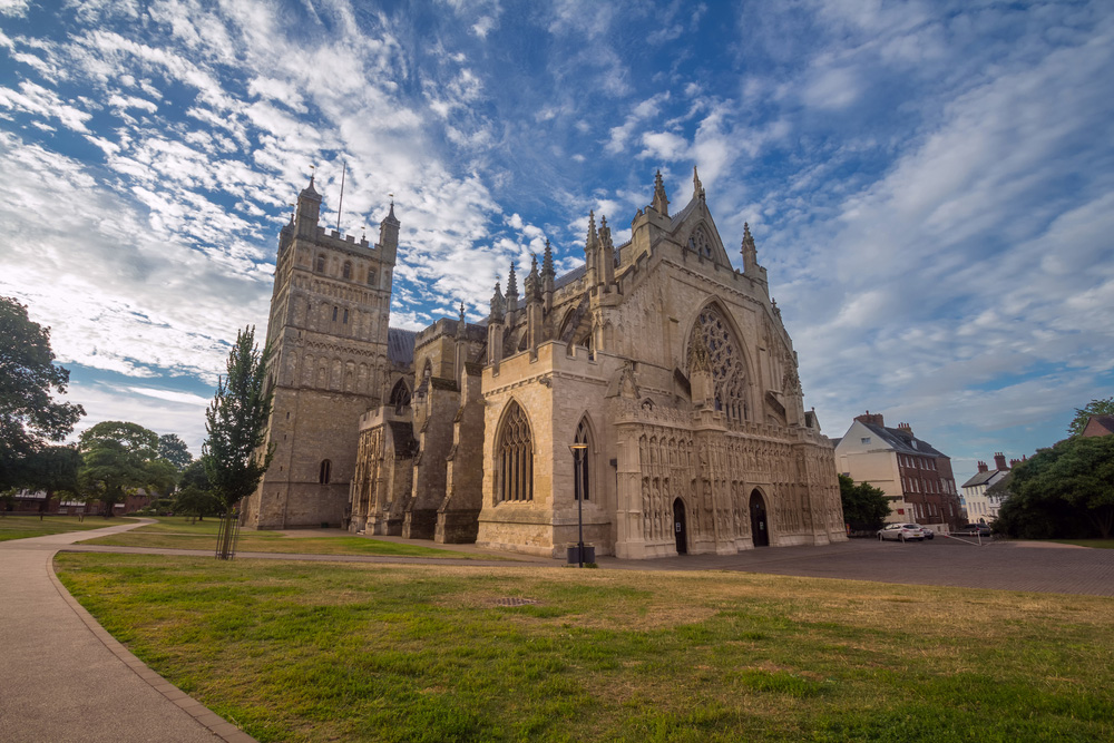 Exeter Cathedral in England