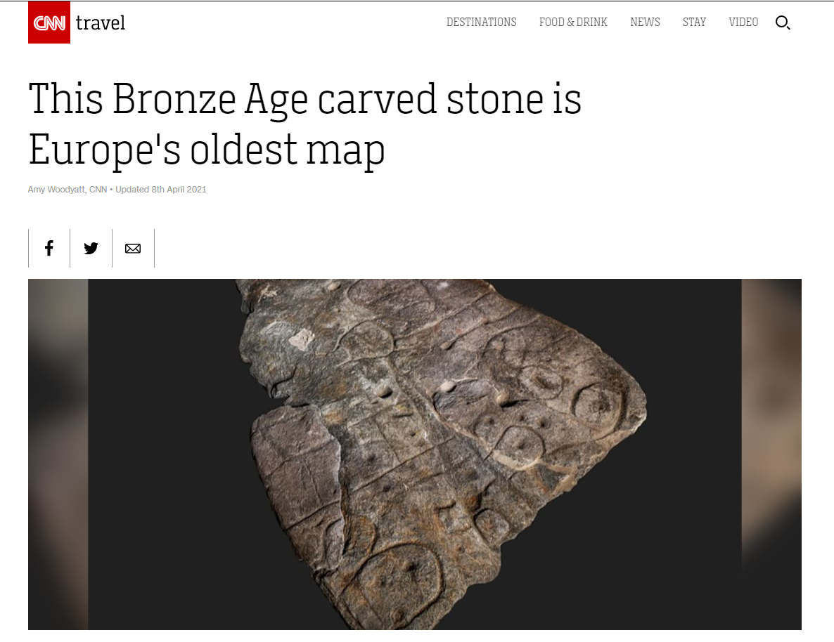 The Oldest Map of Europe Found Carved into Stone