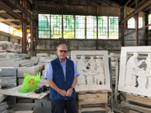 Ralph Petrillo With the Stone Carving